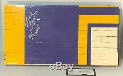 Kobe Bryant Signé Jeu Utilisé Los Angeles Lakers Piece Floor 5x Champs Panini