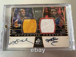 Kobe Bryant Tracy Mcgrady Limit 8/15 04-05 Sp Jeu Utilisé Dual Fabrics Auto #1/1