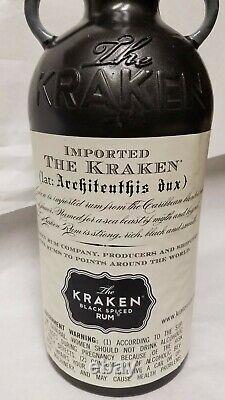 Kraken Rum Liqueur Octopus Tentacle & Bottle Display Man Cave Bar Game Room Rare