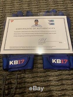 Kris Bryant Chicago Cubs Jeu Gants De Frappeurs Mlb Auth Anciens Et D'occasion Bryant Loa