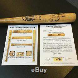 L'un Des Plus Beaux Jeux De 1986 Signé Par Robin Yount Utilisé Batte De Baseball Psa Dna Gu 9.5