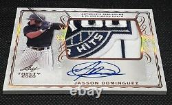 Leaf Trinity Baseball Jasson Dominguez Auto & Amazing Game Patch #pa-jd1