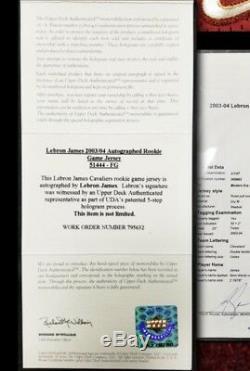 Lebron James Signé Autographié 2003 Jeu Utilisé Maillot Recrue Mears Uda Coa + Loa
