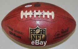 Lester Hayes Signé NFL Le Duke Auto Game-utilisé Football Psa / Oakland Raiders Adn