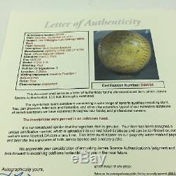 Lou Gehrig & Joe Dimaggio Rookie Signé Hit Réel Triple Jeu Utilisé Baseball Jsa