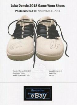 Luka Doncic Jeu Usé Chaussures Usagée Signée Jsa Loa Mffl 1/1