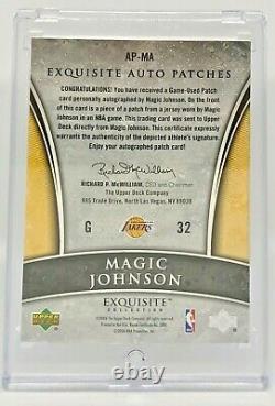 Magic Johnson 2005-06 Exquisite Collection Exquisite Auto Patch 92/100