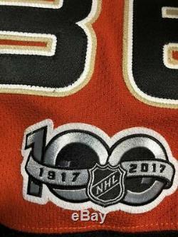 Maillot De Hockey 2016-17 John Gibson Anaheim Ducks - Autre Jeu - Porté Et Signé