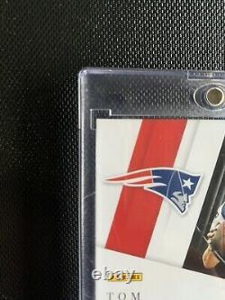 Majestic Capstones 2019 Tom Brady Jeu Utilisé 4 Patch On Card Auto #d 1/3