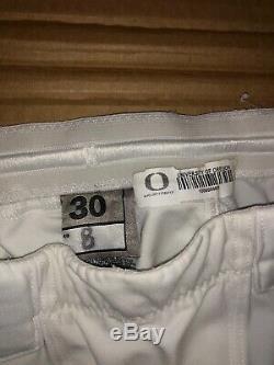 Marcus Mariota Jeu D'occasion Nike Oregon Ducks Pantalon Blanc Dédicacés Rare