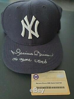 Mariano Rivera 2006 Jeu Signé Utilisé Hat Yankees Cap Auto Steiner Sports Coa