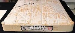 Mariano Rivera Authentique Signé Jeu Utilisé Yankee Stadium Deuxième Base Steiner Mlb