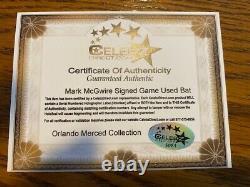 Mark Mcgwire Signé Jeu Utilisé Chauve-souris Oakland Athletics Authentifié