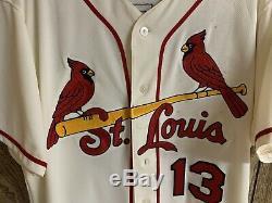 Matt Carpenter 2018 Jeu D'occasion Autre Chandail Autographié Cardinals Grande Utilisation