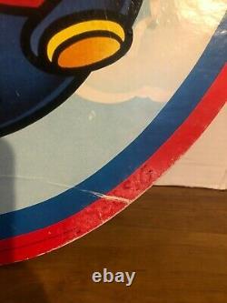 Mcdonalds Super Mario Bros Store Display 22x18 Large Cardboard 1990 Signe
