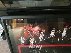 Michael Jordan Autographed Signed Floor Piece Upper Deck Jeu Utilisé Uda Limitée