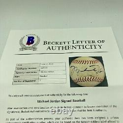 Michael Jordan Rookie Signé 1994 Minor League Jeu Utilisé Baseball Beckett Coa