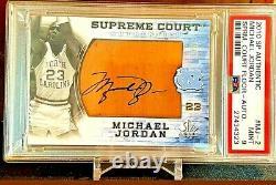 Michael Jordan Supreme Hard Signé Jeu Automatique Utilisé Psa 1 De 1 Pont Supérieur Seulement 1