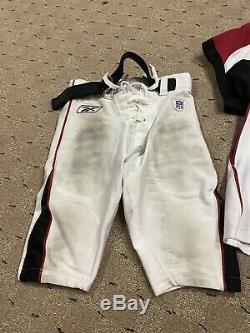 Michael Vick Jeu Utilisé Worn Signés Pantalons Jersey Atlanta Falcons Appareillés 25 Octobre