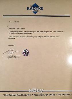 Michael Vick Portés Anciens Et D'occasion NFL Football Jersey Record Pants Falcons Loa
