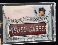 Miguel Cabrera 2021 Topps Sterling Game-used Nameplate Gu Bat Barrel #1/1