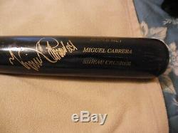 Miguel Cabrera Sam Autographié Jeu D'occasion Bat 15.10.13 Date De Boston Série Éliminatoire