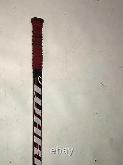 Mike Modano Signé Jeu Used Stick 2011 Detroit Red Wings Warrior Widow