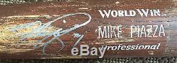 Mike Piazza A Signé Le Jeu. Mizuno Utilisé Batte De Baseball Non Fissuré Ny Mets Auto Jsa Coa