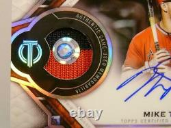Mike Trout #44 /50 Auto On Card 2 Color Relic Game Used Topps Tribute 2021