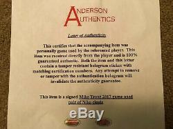 Mike Trout Anderson Authentics Jeu Utilisé Autographié Insc. Crampons 2017 Anges