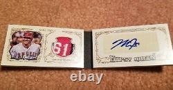 Mike Trout Angels Topps Signé Jeu Utilisé Logo Jersey Relique Livre Automatique 5/5 1/1 Wow