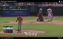 Mike Trout Autographié Jeu Utilisé Mlb Baseball Pid Psa Coa Home Run Game