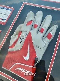 Mike Trout Autographié Signé 2014 Jeu Utilisé Mvp Batting Gloves