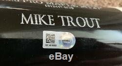 Mike Trout Game Used 2014 1er Autographe Bat Mvp Fissurée Signe Mlb Assermentée