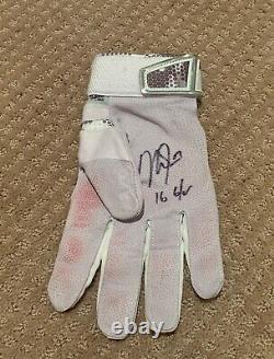 Mike Trout Game Used 2016 Mvp Single Batting Glove Jeu Porté Signé Anges Automatiques