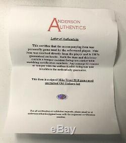 Mike Trout Jeu Signé Utilisé 2018 Vieille Bataille De Baseball Hickory Anderson Authentique