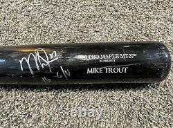 Mike Trout Jeu Used Bat 2016 Mvp Saison Autographié Hologram Loa