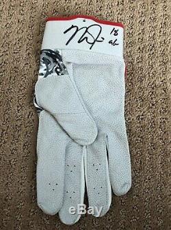 Mike Trout Jeu Utilisé 2018 Batting Glove Jeu Unique Porté Angel Auto Signé