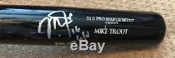 Mike Trout Jeu Utilisé Autographe Uncracked Bat 2016 Signed Angels Saison Mvp Saison