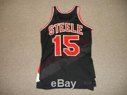 Milw 1970's Larry Steele Portland Trailblazers Jeu Utilisé Signé Nba Jersey # 15