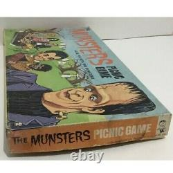 Munsters Picnic Vintage Board Game Complete Scarce Signed Autograph Hasbro 1964