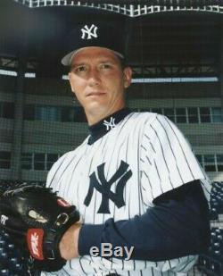 New York Yankees David Cone Signé Jeu Pris / Jeu Utilise Jersey Jsa Auto