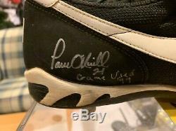 New York Yankees Paul Oneill Autographié Jeu Utilisé Crampons Coa Paul Oneill Rare