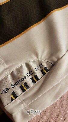 Neymar Worn Signed Shirt Santos Brazil Jeu Utilisé Maillot Psg Maillot Porté Messi