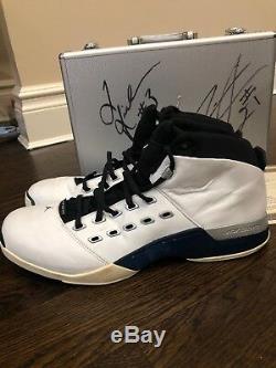 Nike Air Jordan 17 XVII Pe Darius Miles Q Rich Jeu Signé Utilisé Clippers Charity