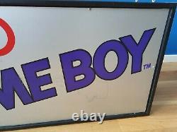 Nintendo Game Boy Fiber Optic Sign Store Display Vga Wata Kiosque Pokemon Promo