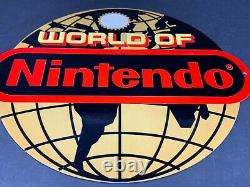 Nintendo Super Mario Brothers Publicité 12 Metal Sign Jeu Vidéo Luigi Nes