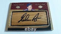 Nolan Ryan 2003 Upper Deck Sweet Spot Signatures Jeu Utilisé Bat Auto Card # 8/445