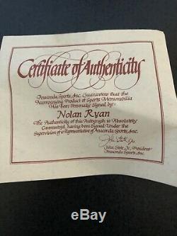 Nolan Ryan Autographed Baseball Et Jeu D'occasion À Partir 1989 All Star Game