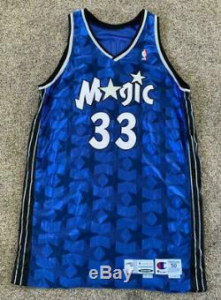 Orlando Magic Hill Grant # 33 00/01 Champion Signé Jeu D'autos D'occasion Délivré Jersey
